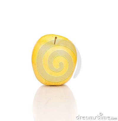 Yellow apple close up.