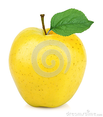 Free Yellow Apple One Stock Photography - 65790182