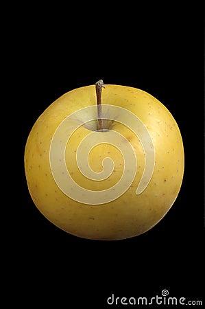 Yellow Apple Over Black