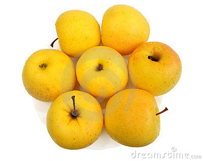 Yellow apples, isolated