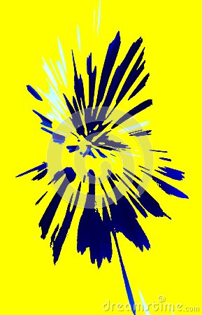 Free Yellow Background. Abstract Flower Of Spots.. Beautiful Design. Vector. Stock Image - 108527421