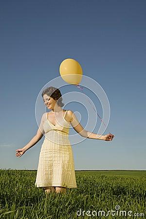 Yellow ballon