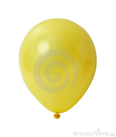 Yellow balloon with path