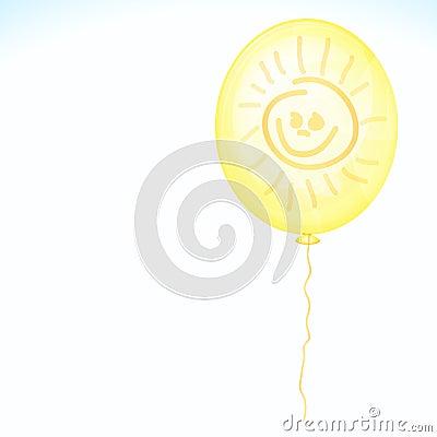 Yellow balloon with smile