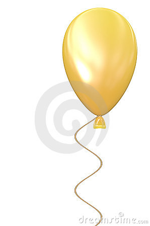 Yellow Balloon w White Background