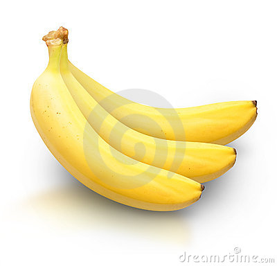 Free Yellow Bananas On White Background Stock Image - 17096201