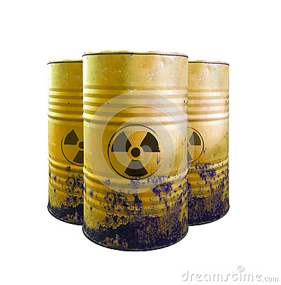 Free Yellow Barrel Of Toxic Waste Isolated. Acid In Barrels. Beware O Stock Photography - 98958062