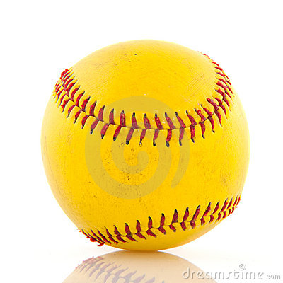 Yellow baseball