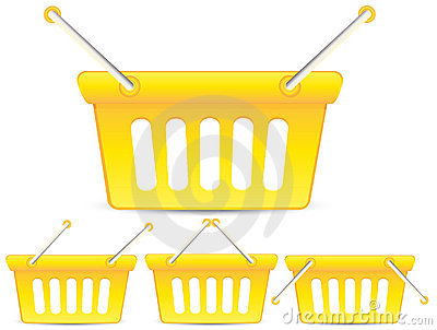 Yellow baskets