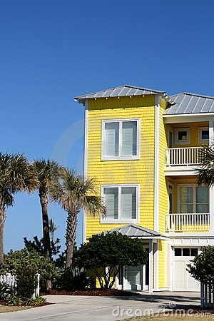 Yellow Beach Front Home