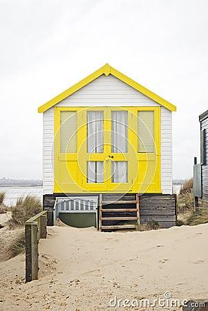 Free Yellow Beach Hut Stock Photography - 13643452