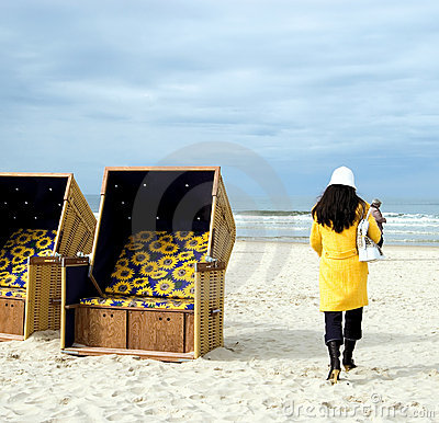 Yellow Beach Walk. Royalty Free Stock Images - Image: 2345289