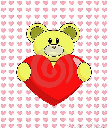 Yellow Bear with Heart