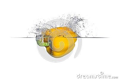 Yellow Bell Pepper Splash