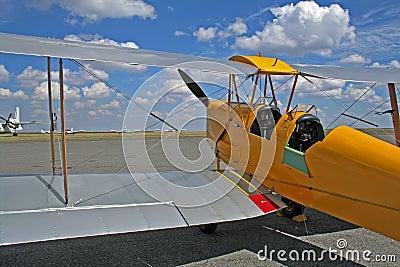 Yellow bi-plane