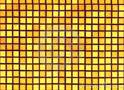 Yellow black background from mosaic