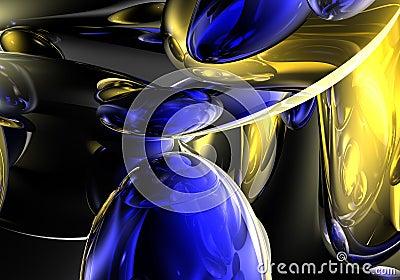 Yellow&blue bubbles 01