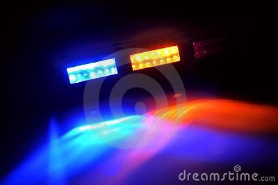 Yellow and Blue Emergency Lights