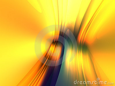 Yellow Blue Light Abstract Background 3D Render
