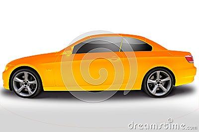 Yellow BMW 335i convertible car