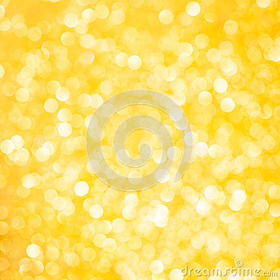 Yellow bokeh