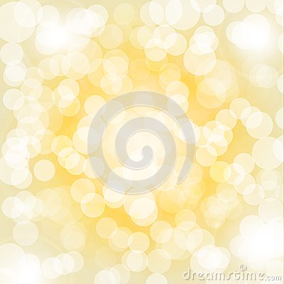 Yellow bokeh background
