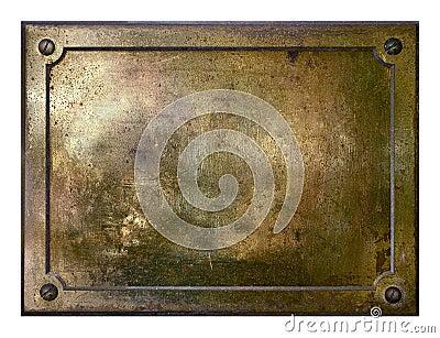 Yellow brass metal plate border