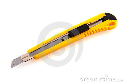 Yellow breakable hobby knife