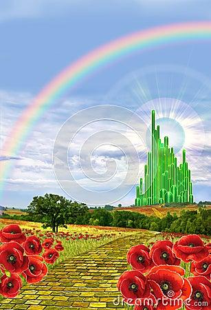 Free Yellow Brick Leading To Oz Royalty Free Stock Image - 62955436