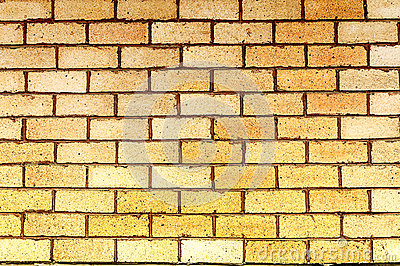 Yellow brick wall