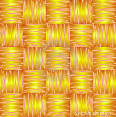 Yellow Brown Seamless Weave Background