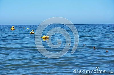 Yellow buoys