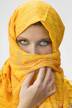 Yellow burka