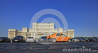 Yellow cab in Bucharest