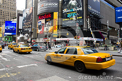 Yellow cabs  in New York. Currently there are mo Editorial Stock Image