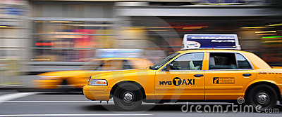 Yellow cabs during rush hour Editorial Photo