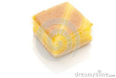 Yellow Cake Isolated