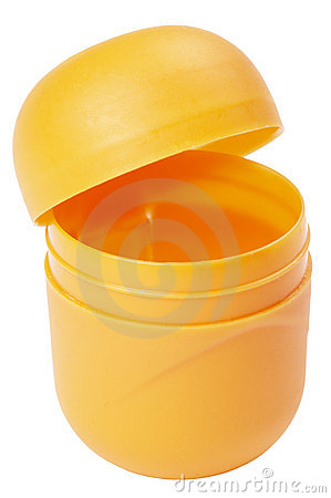 Yellow capsule container