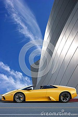 Free Yellow Car Royalty Free Stock Photos - 3259488
