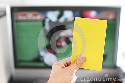 Yellow card football punishment