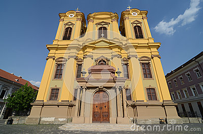 Yellow cathedral church