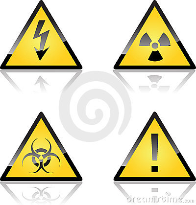 Free Yellow Caution Labels Stock Images - 13555794