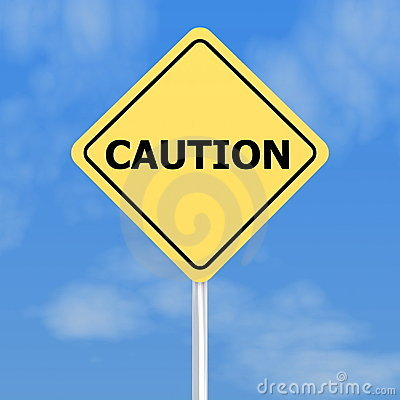 Free Yellow Caution Sign Royalty Free Stock Image - 12166666