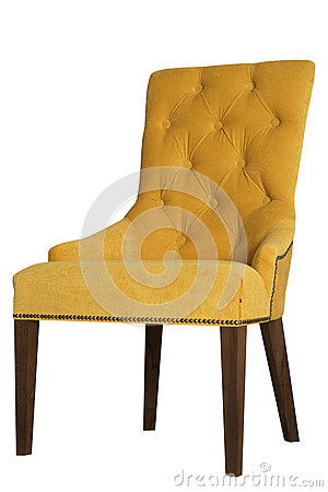 Free Yellow Chair From Velor Royalty Free Stock Photos - 58232468
