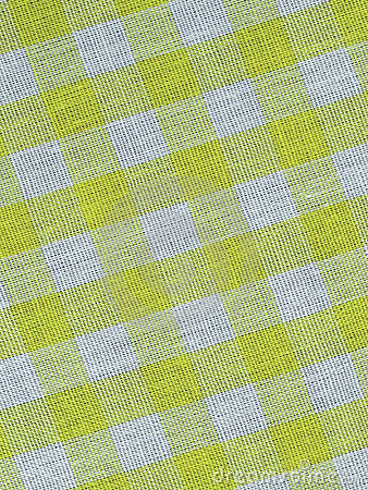 Yellow checkered fabric