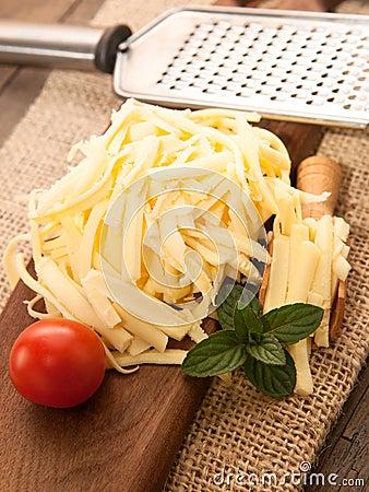Yellow cheese Stock Photo