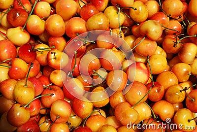Yellow cherries texture