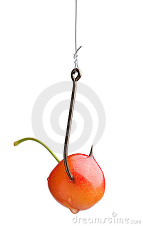 Free Yellow Cherry On The Hook Stock Photography - 17555262