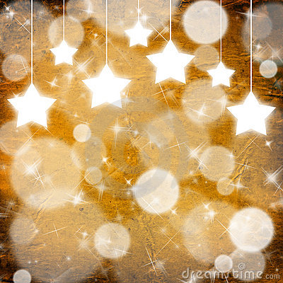 Free Yellow Christmas Background With Stars Stock Image - 17202591
