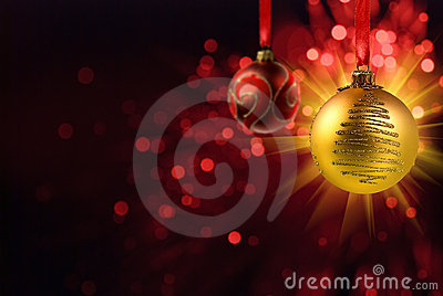 Yellow Christmas ball